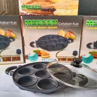 Snack maker 7 lubang/cetakan kue 7 lubang/cetakan martabak mini/moegen