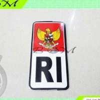 stiker sticker tulisan ri merah putih burung garuda