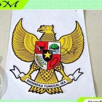 stiker sticker gambar lambang negara burung garuda besar kuning
