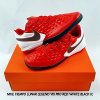 SEPATU FUTSAL NIKE TIEMPO LUNAR LEGEND VIII PRO RED WHITE BLACK IC