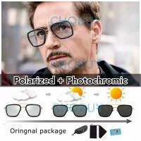 COD Kacamata Tony stark Polarized photocromic anti UV siang malam