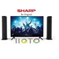 TV LED SHARP 2T-C32BB1I-TB 32 INCH + SPEAKER TOWER