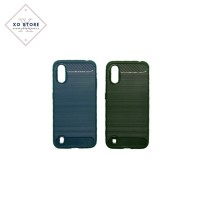 Case Carbon Fiber Ipaky SAMSUNG A01 Model IPAKY Softcase Anti Shock