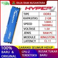RAM KINGSTON HYPERX FURY GAMING DDR3 2GB 1600MHz 12800 RAM PC DDR3 2GB