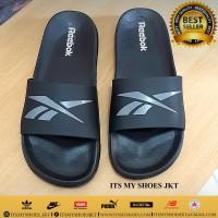 Sandal Selop Pria Wanita-Full Karet-Import-Hitam