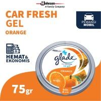 Glade Car Gel Orange 75gr - Pengharum Mobil