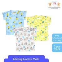 LIBBY 3 pcs Kaos Anak Oblong Cotton Tipis Motif Mix Nanas ( 3pcs/set )