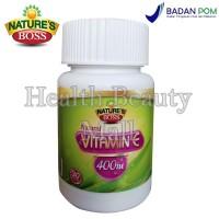 Nature's Boss Natural Vitamin E 400IU 30 Softgels - Vit E Antioksidan