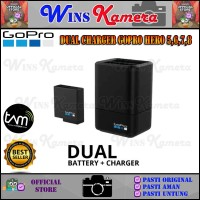 Dual Charger GoPro Hero 5 / Hero 6 / Hero 7 Original - Hero 5 6 7