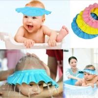 Baby Shower Cap Topi Keramas Anak Pelindung Shampoo Mandi