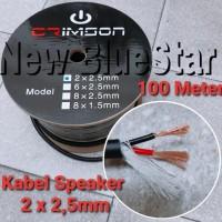 Kabel Speaker/Mic/Audio Crimson 2 x 2.5 Original Product 100 Meter