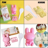 CETAKAN NASI BENTO KELINCI 3IN1 RICE MOLD RABBIT CUTER CETAKAN BENTO