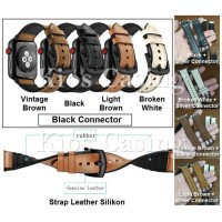Apple Watch iWatch 42MM 44MM 42 44 MM - Tali Jam Strap Leather Silikon