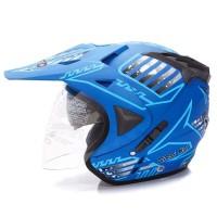 Helm Dewasa WTO Helmet Pro-Sight Cross - Seablue Doff Promo Gratis