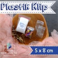 PLASTIK KLIP 5x8CM ISI 100PCS PLASTIK ZIPLOCK BENING SERBAGUNA
