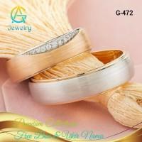 Cincin Kawin Tunangan Perak Sepasang Couple G-472