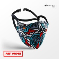 Stayhoops - Masker Fullprint 2 Layer - Non Medis - gue basket