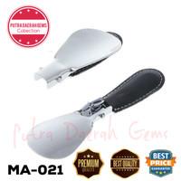 Sendok Sepatu Shoe Horn Travel Stainless Accesories EYKOSI MA-021