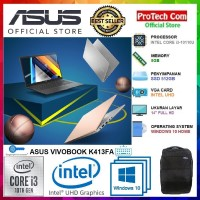 "LAPTOP ASUS K413FA - i3 10110U 8GB 512GB SSD INTEL UHD 14"" FHD WIN10"