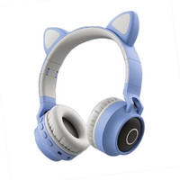 Cat Ear Headphones Wireless Bluetooth LED / Headphone Karakter LED