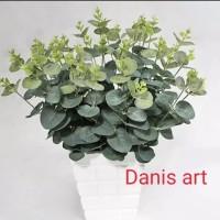 Kayu putih palsu/ tanaman eukaliptus plastik/ tanaman dolar
