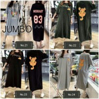OBRAL !!! Long Tunik Jumbo Baju Daster Kaos Tunik Big Size Blouse 3L