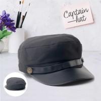 Topi Pria Command Hat Captain cap Hitam polos baseball distro