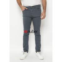 Celana Panjang Slim Fit Stretch Soft Jeans Pria Abu abu - Amethyst