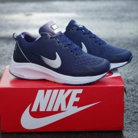 Nike Zoom Zumba Navy Sepatu Wanita Senam Joging Zumba