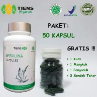 Masker Spirulina Tiens , Obat Jerawat, Pemutih Wajah (50 Kapssul) ORI