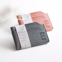 Souvenir Gift Nikah Wedding Perusahaan Corporate Card Holder 3 slots