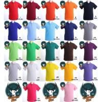 Kaos Kerah Polo Shirt Berkerah Polos Pria M -XL