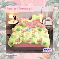 sprei set bahan Katun STAR motif Fancy Flamingo (tanpa bedcover