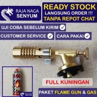 Paket Kepala Gas Las Portable Fire Torch Flame Gun Besi Metal Makanan