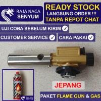 Bundling Paket Fire Torch Flame Gun Jepang Portable Kepala Las Gas