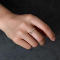cincin simpel beautiful triangle zircon ring jci059