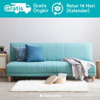 Saki Sofa Bed Minimalis - Teal (Biru Muda)