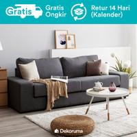 Michi Sofa 3 Seater Scandinavian atau Sofa Minimalis 3 Dudukan - Krem