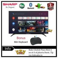SHARP Android TV Bluetooth Azan Reminder 32inch-2T-C32BG1i Bonus Mikey