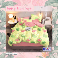 CINITA sprei set bahan Katun STAR motif Fancy Flamingo (tanpa bedcover