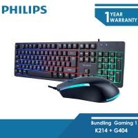 Philips Paket Gaming Keyboard K214 + Mouse Gaming G404