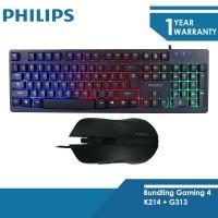 Philips Paket Keyboard Gaming K214 + Mouse Gaming G313