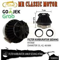 Filter Udara Karburator Jamur Sedang Hitam Custom Variasi