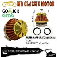 Filter Udara Karburator Jamur Sedang Gold Custom Variasi