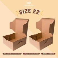 Kotak Makanan Ukuran 22x22x10 cm Bahan Kertas/ECO Kraft Box Size 22