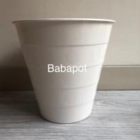 Pot Bunga Monas Polkadot 27 cm Putih Tempat Sampah Ikea