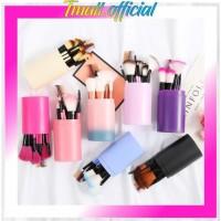 R034 Kuas Rias Make Up Tabung 12pcs Makeup Pro Brush 12 Set In Tube Im