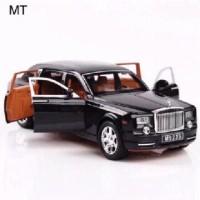 DIECAST MOBIL 1:24 Alloy Car model Rolls Royce Phantom wheels -MERAH - Hitam