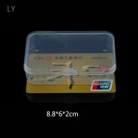 LY 2PCS Mini Craft Case Collection Storing Storage Boxes