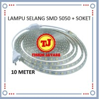 Lampu LED Strip Selang SMD 5050 10M + Soket 220v 10 M METER Outdoor